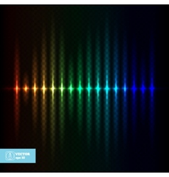 Abstract Glow Equalizer vector image vector image