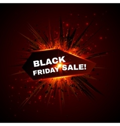 Black friday sale banner with explode on vector