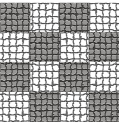 Checkered mosaic pattern vector image