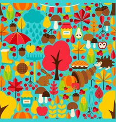 fall seasonal seamless pattern vector image