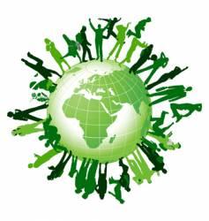 global community vector image vector image