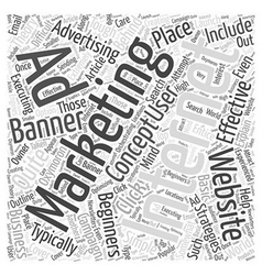 Internet Marketing For Beginners Word Cloud vector image vector image