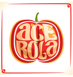 logo for acerola cherry vector image vector image