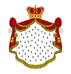 Medieval royal mantle vector