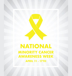 national minority cancer awareness ribbon vector image