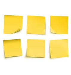 post it notes vector image