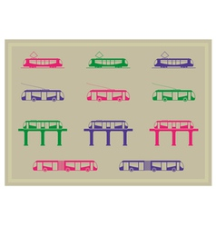 Public transportation icons series vector image vector image