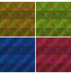 Abstract seamless plaid set vector image