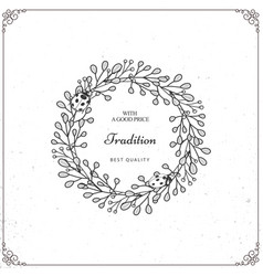 Beautiful wreath isolated on white background vector