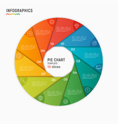 circle chart infographic template 10 vector image vector image