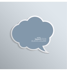 Abstract background with paper speech bubble vector image vector image