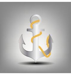 Anchor stencil icon vector image vector image