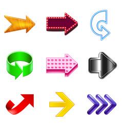arrows design icons realistic set vector image