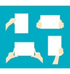Cartoon Hands Paper Set vector image