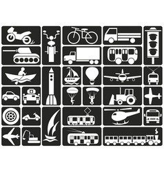 modes of transport icons vector image