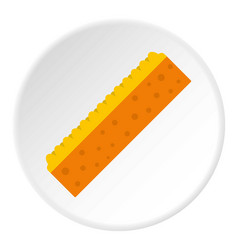 Orange sponge for cleaning icon circle vector