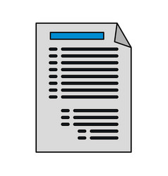 paper document with lines icon image vector image
