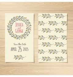 Save the Date Cards vector image vector image