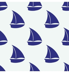 seamless pattern with sea elements ship vector image