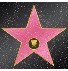 star Hollywood Walk of Fame vector image