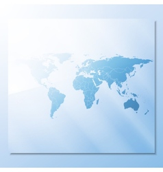 transparent world map abstract background vector image