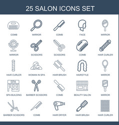 25 salon icons vector