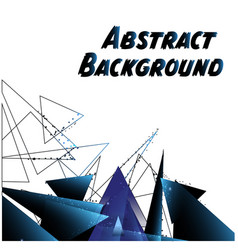 Abstract blue triangle white background ima vector