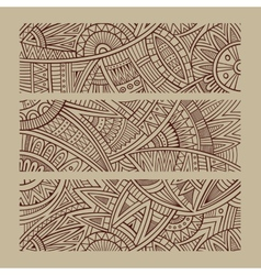 Abstract hand drawn ethnic banners vector image