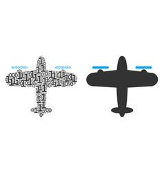 Aircraft mosaic of binary digits vector