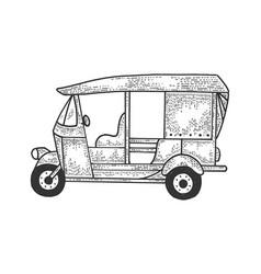 Auto rickshaw transport sketch vector