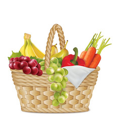 Autumn basket vector