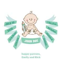 Baby shower and arrival card - theme vector
