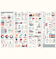 big set infographic elements vector image