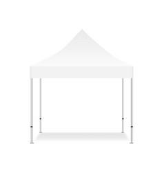 Blank outdoor tent mock up vector