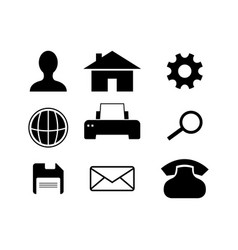 business icons set icon vector image