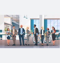 business people group hand shake agreement vector image