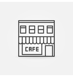 Cafe building icon vector