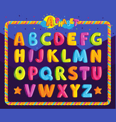 cartoon alphabet vector image
