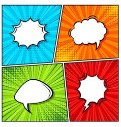 cartoon comic backgrounds set speech bubble vector image