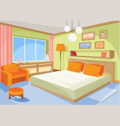 cartoon interior orange-blue vector image