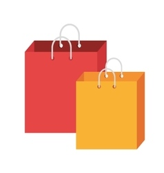 colorful shopping bags graphic vector image