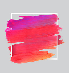 Craft label brush stroke backgrounds paints for vector