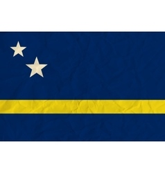 Curacao paper flag vector image