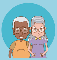 cute grandparents cartoon vector image