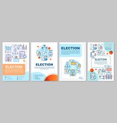 Election brochure template layout citizens ballot vector