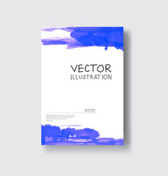 elegant brochure template design ink brush element vector image