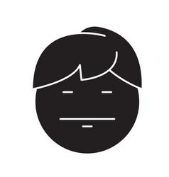 emo emoji black concept icon emo emoji vector image