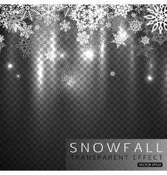 Falling snowflakes on transparent background vector
