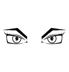 female eyes hand drawn sketch vector image