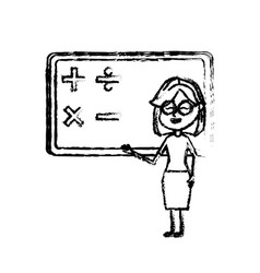 figure woman teacher teaching to the student in vector image